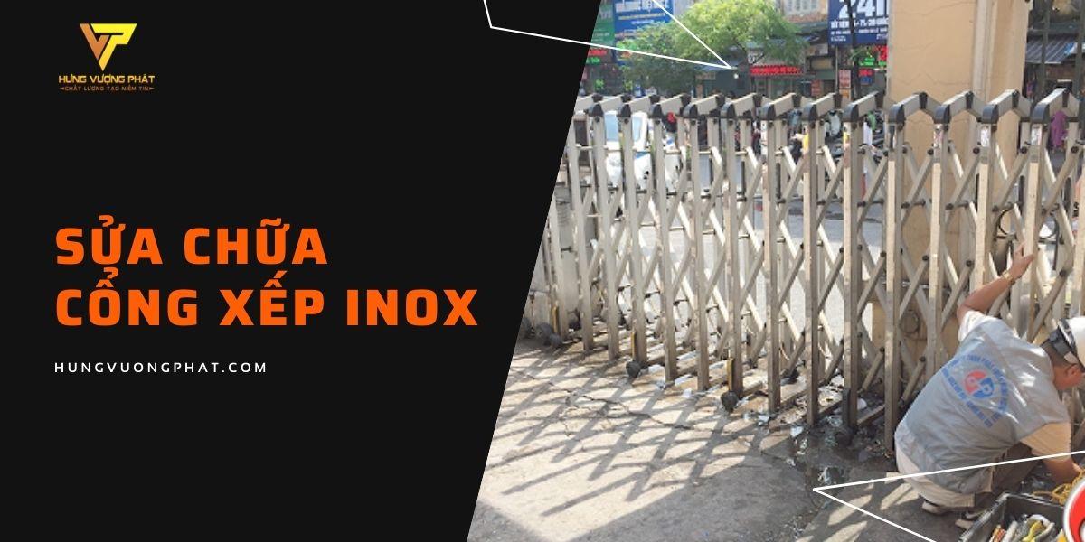 Sửa chữa cổng xếp inox
