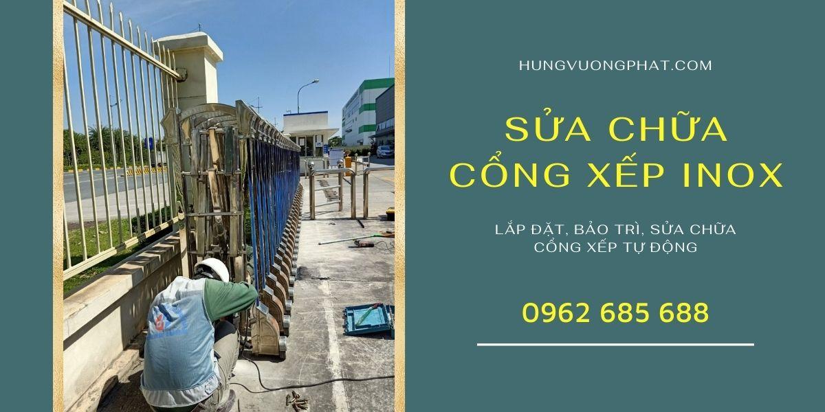 Sửa chữa cổng xếp inox tại Hà Nội