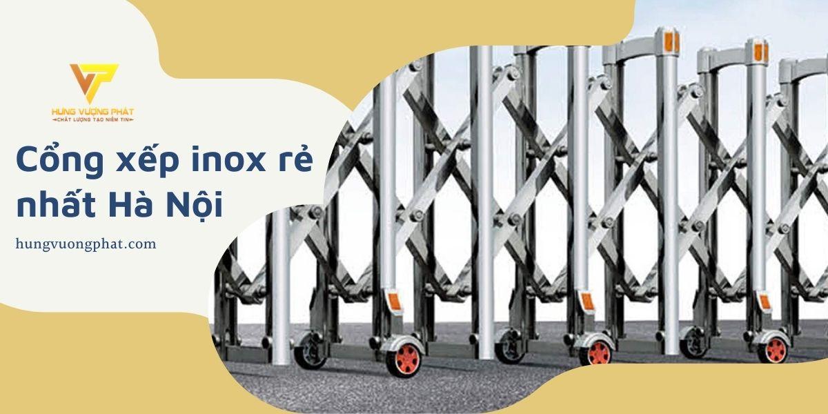 Cổng xếp inox tại Hà Nội