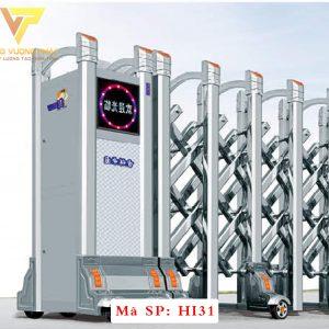 Cổng xếp inox chạy điện tự động HI31