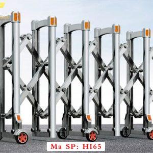 Cổng xếp inox kéo tay HI65