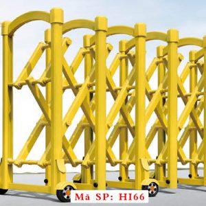 Cổng xếp inox kéo tay HI66