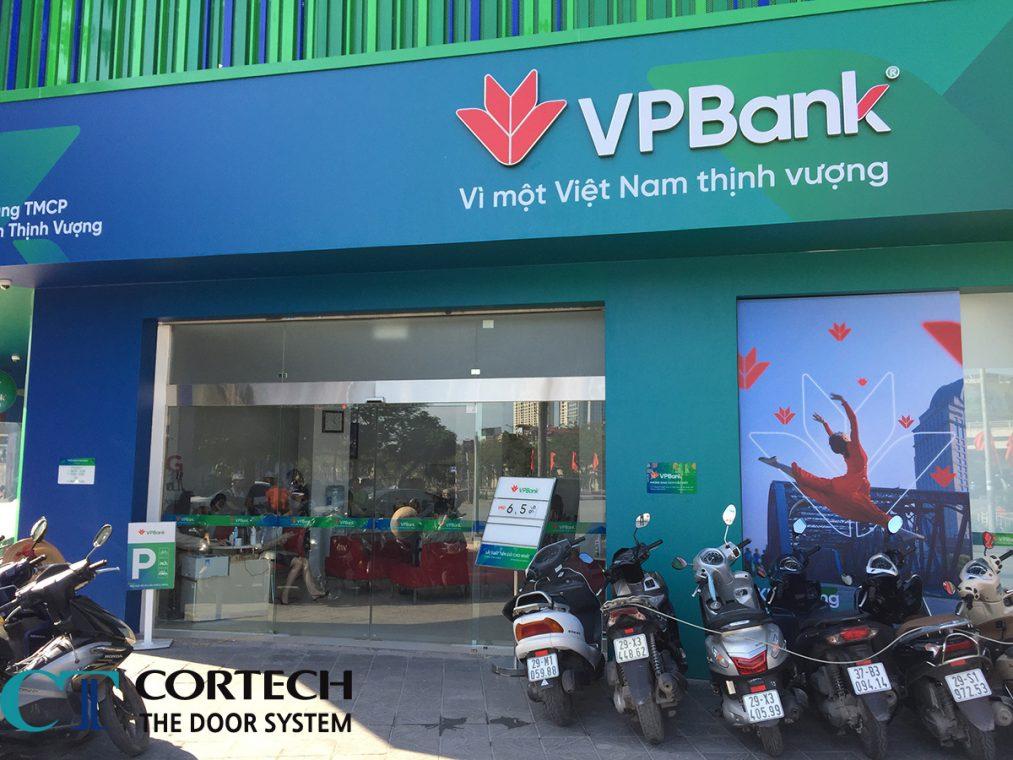 Cửa tự động Cortech Model CT803 E Ngân hàng VPbank