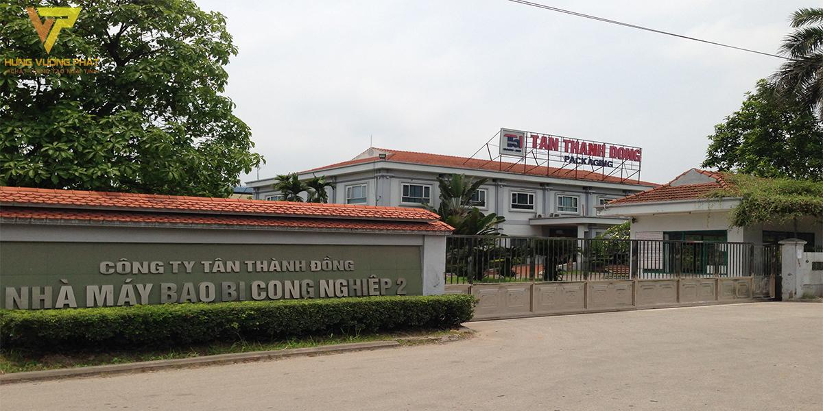 Dự án công ty Tân Thành Đồng nhà máy bao bì