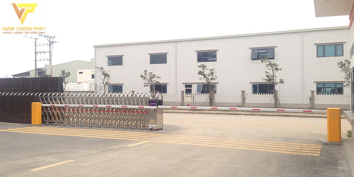 Lắp đặt barie tự động nhà máy vina yongseong