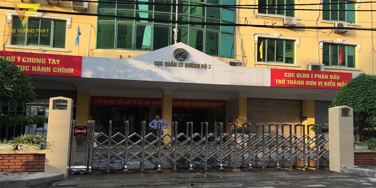 Lắp đặt cổng xếp cho Cục quản lý đường bộ số 1