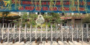 Lắp đặt cổng xếp cho trường Lương Thế Vinh cs2