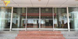Lắp cửa tự động công an thành phố Hà Nội