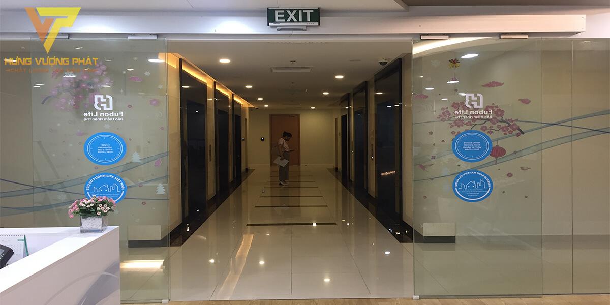Lắp cửa tự động công ty fubon life