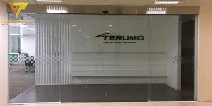 Lắp cửa tự động cho công ty Terumo hoàng cầu