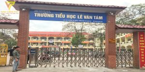 Lắp đặt cổng xếp trường tiểu học lê văn tám