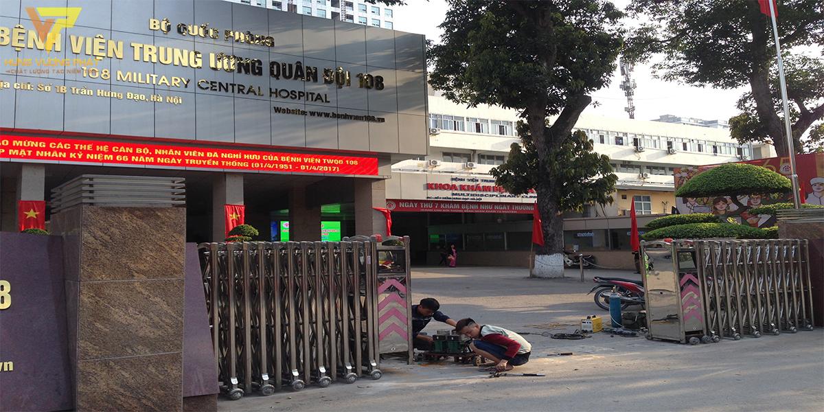 Dự án sửa chữa cổng xếp bệnh viện 108