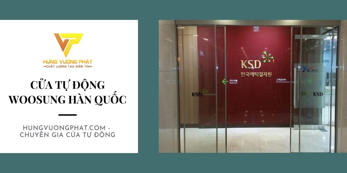 Cửa tự động woosung Hàn Quốc