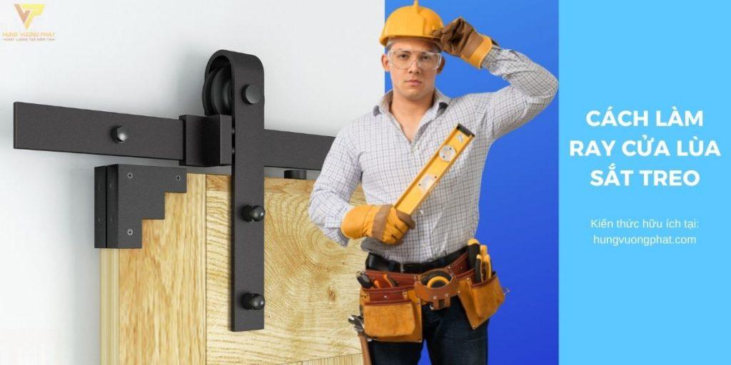 cách làm ray cửa lùa sắt