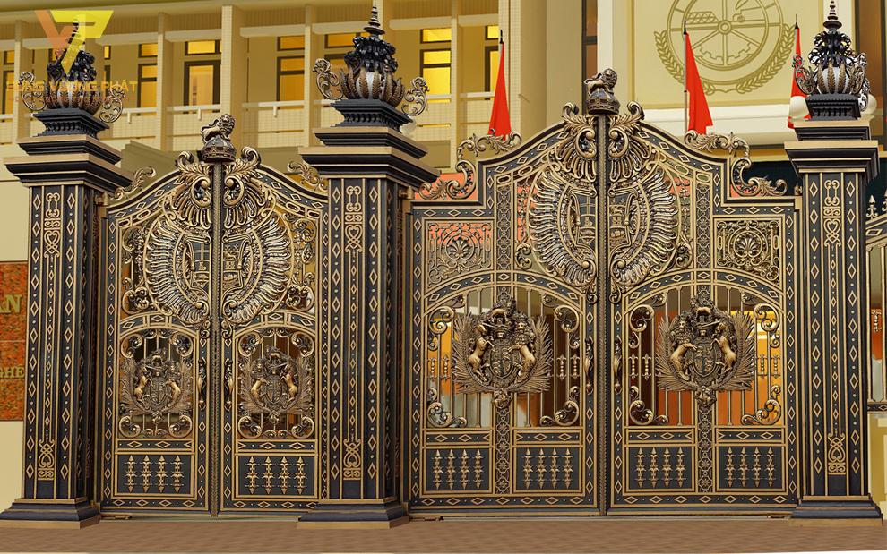 Cánh cổng bằng nhôm đúc