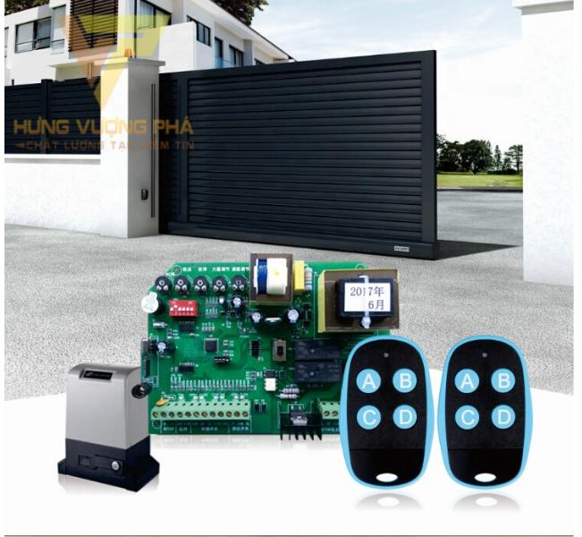 Điều khiển cửa tự động có cấu tạo gồm 2 chiếc remote và một bộ nhận tín hiệu