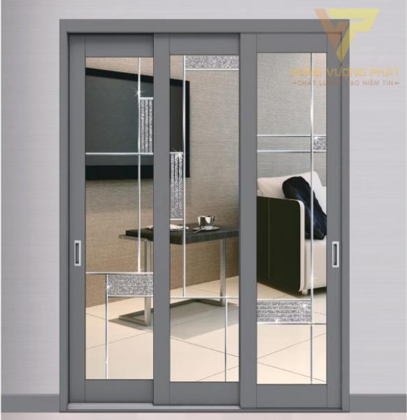Kết cấu cửa lùa 3 cánh óng kín ngay cả vị trí các góc nên hạn chế được nước và không khí lưu thông giữa 2 phía cửa.