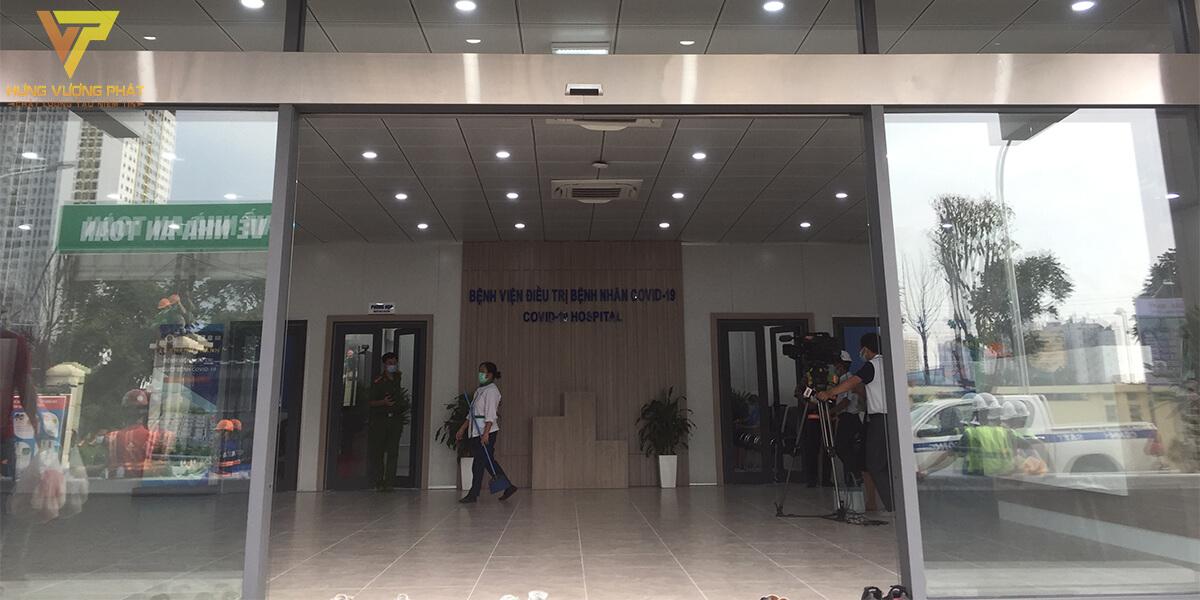 Lắp đặt hệ thống cửa tự động cho Bệnh Viện Dã Chiến Covid Yên Sở