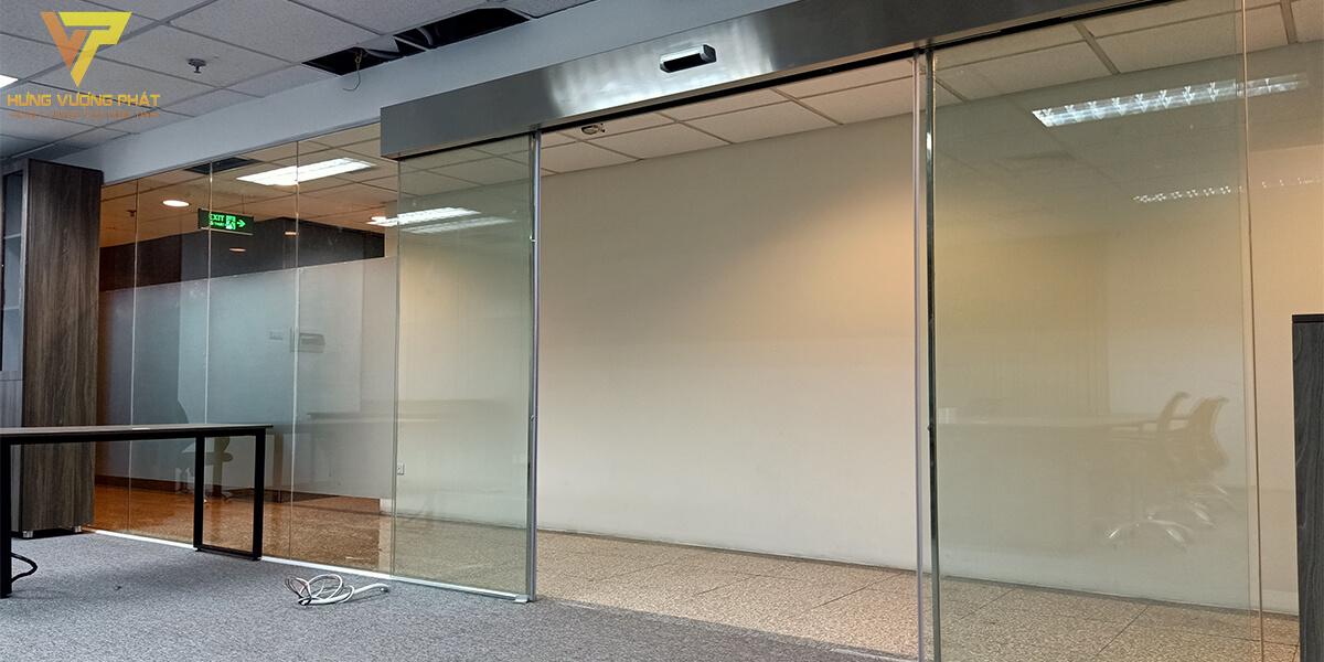 Lắp cửa trượt tự động cho Ngân hàng Bắc Á Số 7 Đào Duy Anh